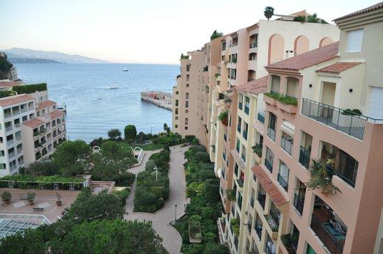 Columbus Monte-Carlo: vue du balcon 8e etage