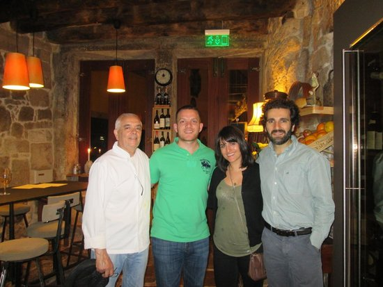 Ode Porto Wine House: With the chef, and the owner Christopher.
