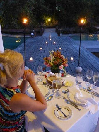 Sandals Royal Plantation : Romantic dinner