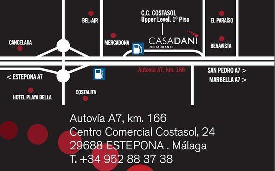 Restaurante CASA DANI: Mapa