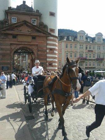 Carl Theodor Old Bridge (Alte Brucke): coche de caballo de una boda