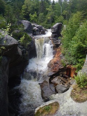 Grafton Notch State Park: screw auger falls after a good rain