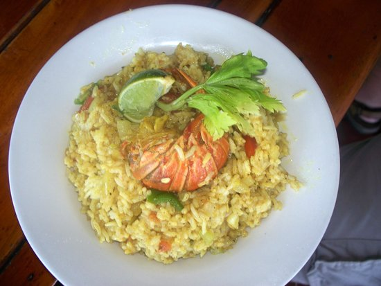 Eagle Rays Bar & Restaurant : curry rice and lobster