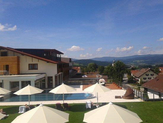 Landromantik Wellnesshotel Oswald: View aus dem Zimmer