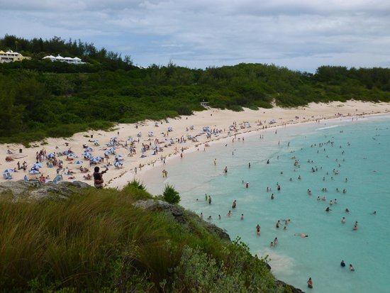 Horseshoe Bay Beach: View from the top