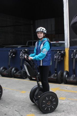 Electric Tour Company Segway Tours: Rocking the helmet and safety vest!!