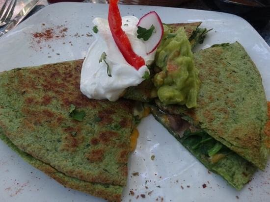 Old Town Mexican Cafe: veggie quesadilla (spinach, mushroom, onion)- was amazing!!!