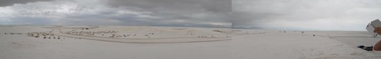 White Sands National Monument: Panorama with wife's hands