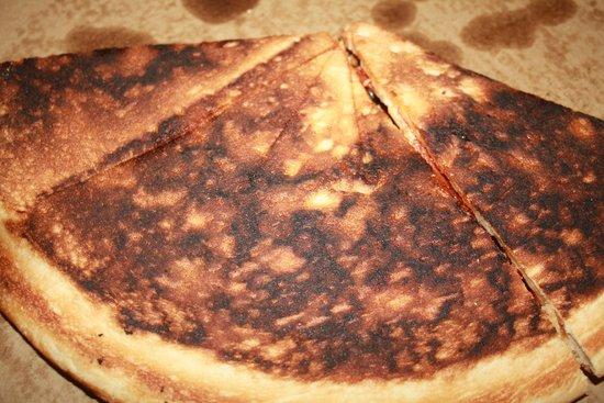 Zwanzig Z Pizza : Our burnt pizza
