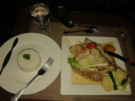 Padre Burgos Castle Resort Restaurant : The fanstastic lobster plate