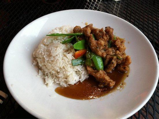 Big Bowl Chinese and Thai: Orange chicken
