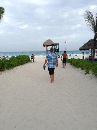 Sandos Playacar Beach Resort : walk way to thr beach