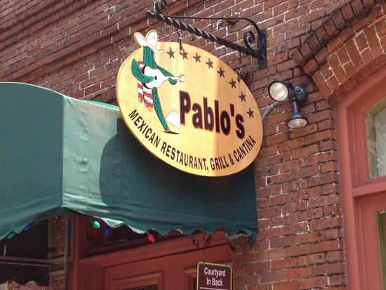 Pablo's Mexican Cuisine: Entrance sign