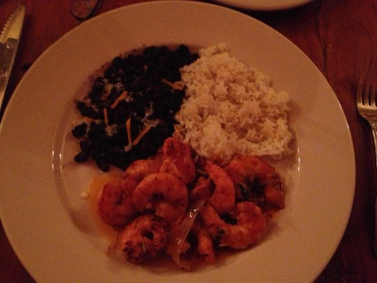 Pablo's Mexican Cuisine: Shrimp with rice and black beans