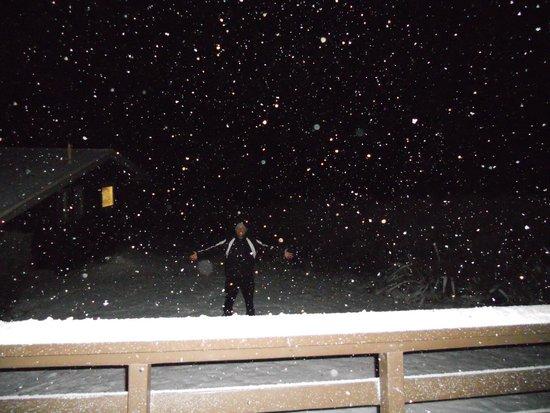 Skotel Alpine Resort: Snow at the cabin