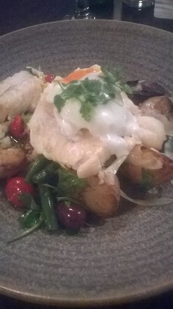 Shawty's Cafe: Blue cod served on a warm salad