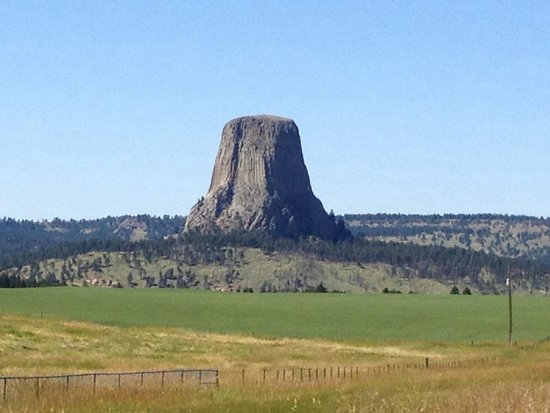 Devils Tower National Monument: View from highway overlook.