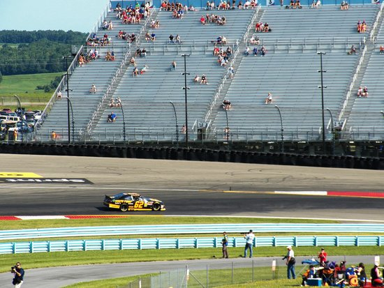 Watkins Glen International: Turn one from the Pit terrace