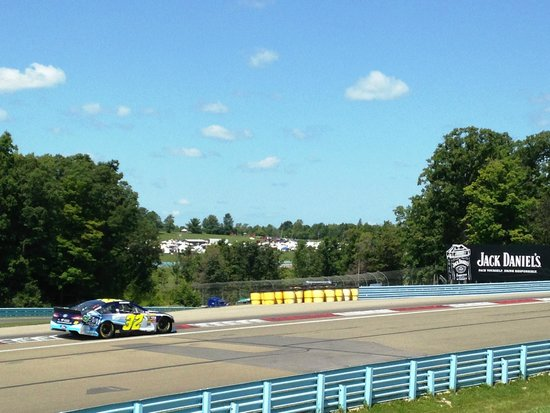 Watkins Glen International: through the bus stop