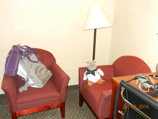 Comfort Inn & Suites: 2 sofa chairs. didn't expect two