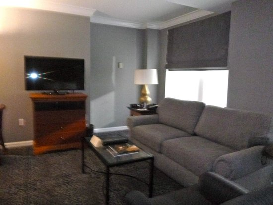 The Manhattan Club : Living room/sofabed