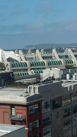 Residence Inn San Diego Downtown/Gaslamp Quarter: View of convention center and Pt. Loma in the back.