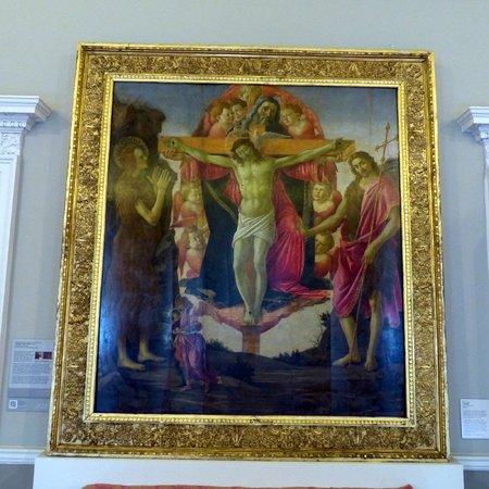 The Courtauld Gallery : Botticelli 'The Trinity with Saints' (1491-1494)