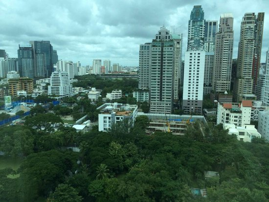 Oriental Residence Bangkok: view from our suite…Dutch embassy and US ambassador's residence!