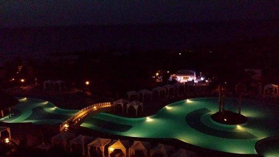 Grand Bahia Principe Jamaica : night time from our room