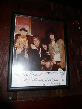 Rainbow Bar & Grill: Old Motley Crue picture.... inside the Rainbow!