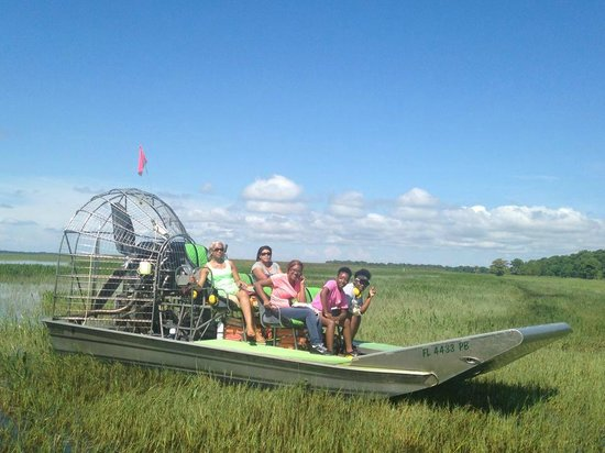 Wild Willy's Airboat Tours: Catching some sun!