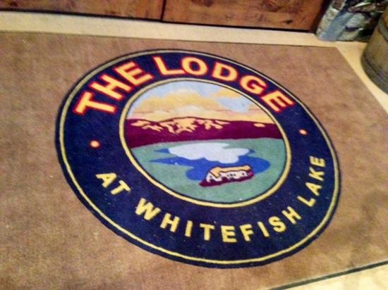 Lodge at Whitefish Lake: well, that's just cute.