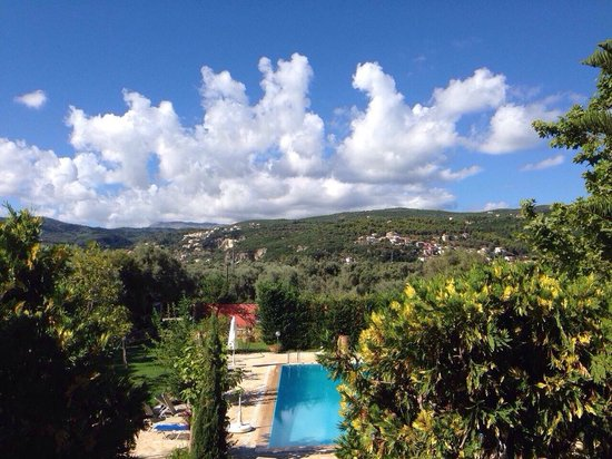 Lefkas Blue Residence: Beautiful view from our balcony and pool/gardens
