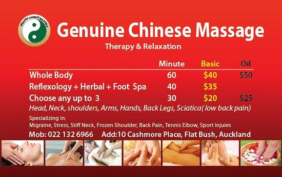 chinese massage and spa Devonport