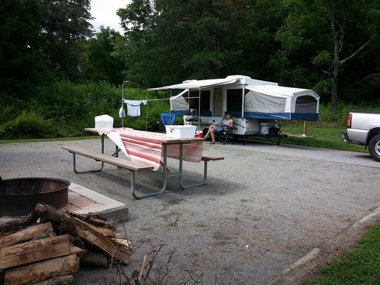 Stone Mountain State Park: Site 44-all Loop B sites are set up like this
