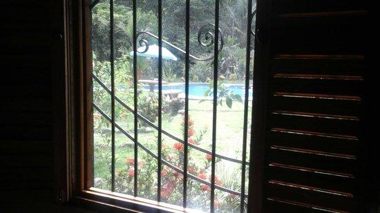 Hacienda Barú Lodge : Vue de notre chambre côté piscine