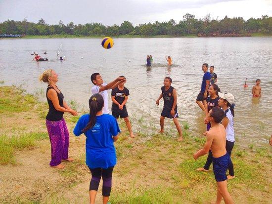Joy's House: Fun and games at the lake