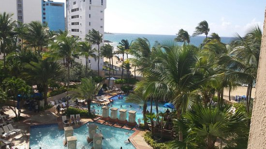 San Juan Marriott Resort & Stellaris Casino: I loved the view from our room!