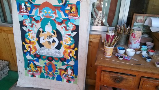 Tongren County, China: Beautiful Thangkha Paiting in Tongren
