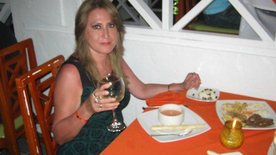 Sol Caribe Campo: En el restaurante Italiano