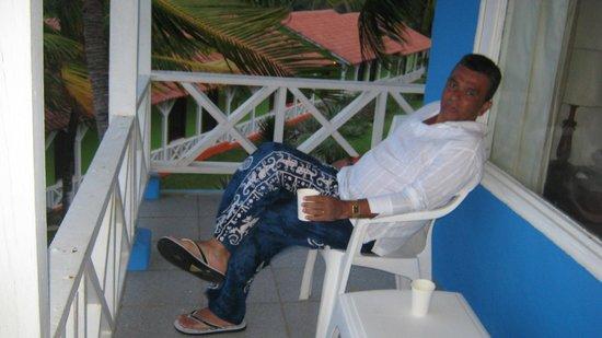 Sol Caribe Campo: en el balcón de la habitación