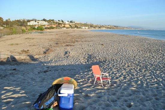 Doheny State Beach : looking south toward where the birds hang out, as well as Capo & San Clemente in the distance