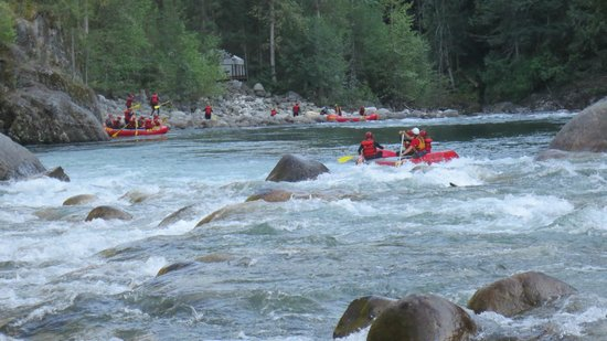 REO Rafting Resort: Rafting on the beautiful Natatlatch