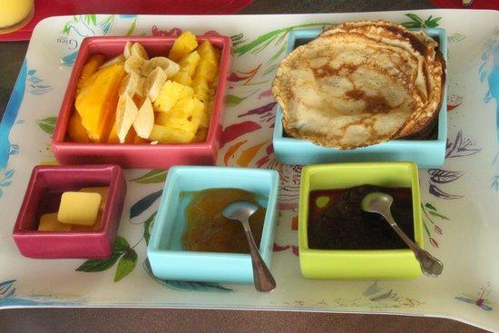 Rancho Capulin Bed&Breakfast : Petit déjeuner au Rancho Capulin