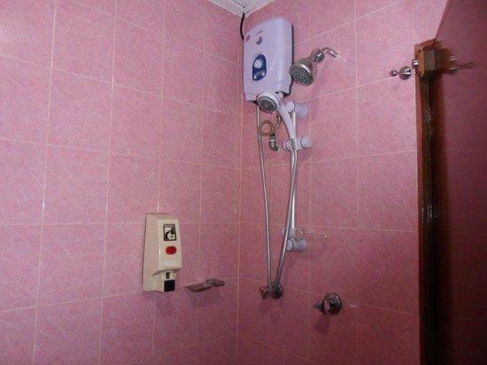 Adina Motel: Unusual shower setup