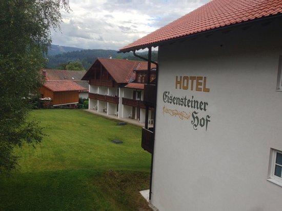 Eisensteiner Hof: View from rain sheltered balcony