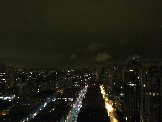 Night view from yaletown