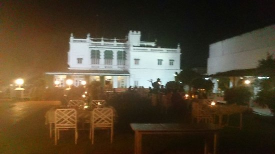 Green Hotel : The palace section from the lawns