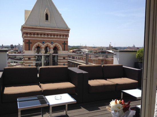 La Griffe Roma - MGallery By Sofitel : view from dining roof tetras