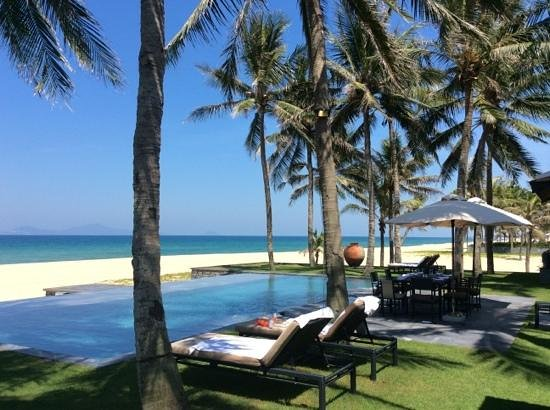 The Nam Hai Hoi An: la piscine privée de notre villa a trois chambres